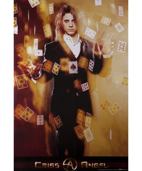 POSTER CA FLOATING CARDS LG 24X36