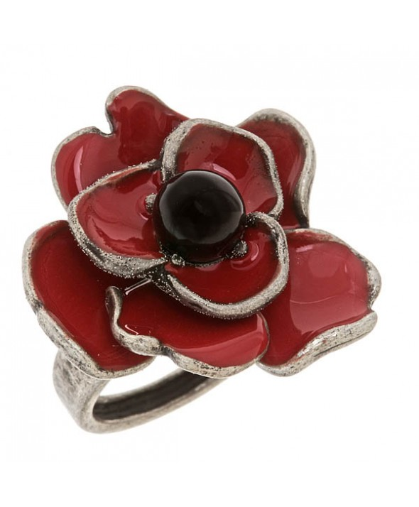 Criss Angel the Jewelry Red Enamel Poppy Ring (Size 7)