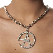 NECKLACE CA LOGO CLEAR CRYSTAL-0