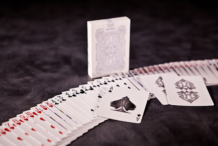 BAROQUE DECK OF CARDS - White