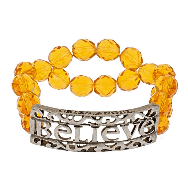 Criss Angel the Jewelry Believe ID Beaded Bracelet - Yellow-0