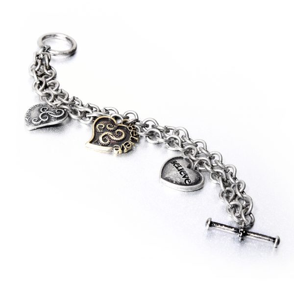 Criss Angel the Jewelry Triple Heart Multi Chain Bracelet-0