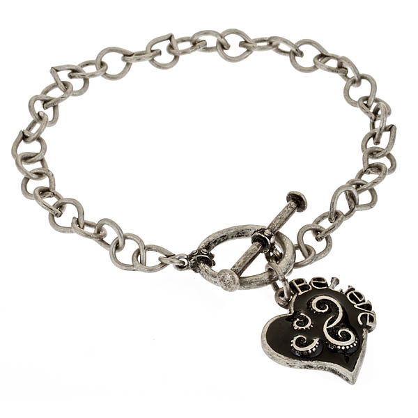 Criss Angel the Jewelry Follow Your Heart Bracelet (Black)-0