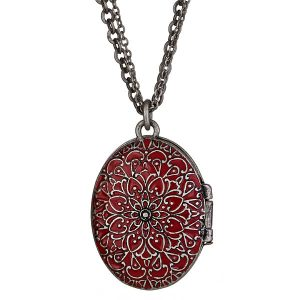 Criss Angel the Jewelry Red Enamel Locket-0