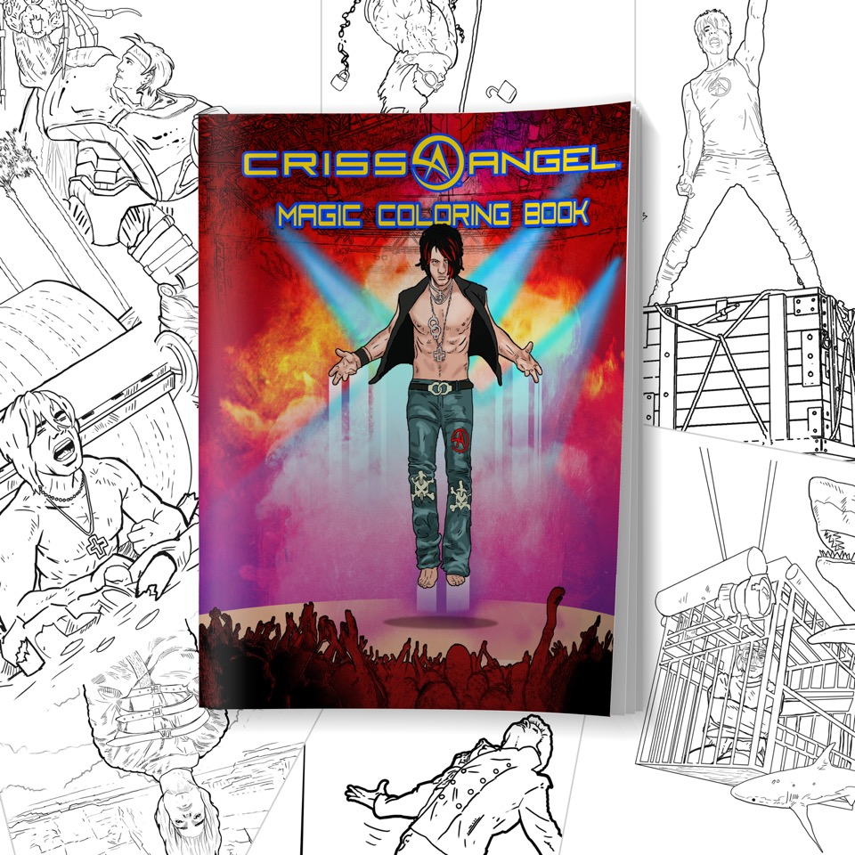 CrissAngel CRISS ANGEL\'S LARGE MAGIC COLORING BOOK